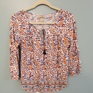 Lucky Brand 3/4 Top size small